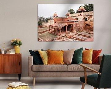 Fathepur Sikri Fort | Palast in Indien | Pastell-Reisefotografie von Lotte van Alderen