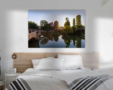 Sebalder Altstadt in Nürnberg am Morgen von Werner Dieterich