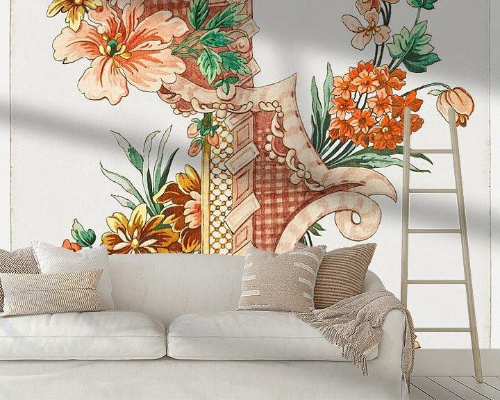 Beispiel fototapete: Vertikales dekoratives Blumenband, Giacomo Cavenezia