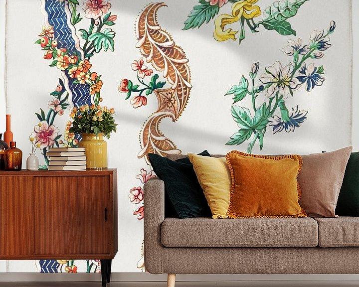 Beispiel fototapete: Blumenmuster und Blumenbänder, Giacomo Cavenezia