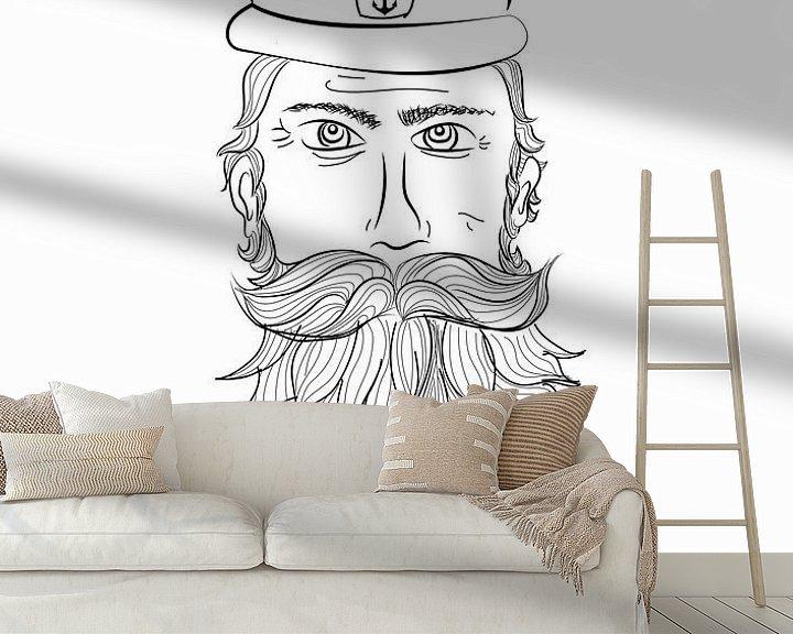 Beispiel fototapete: Plakat Kapitän - Pirat - Terschelling von Studio Tosca