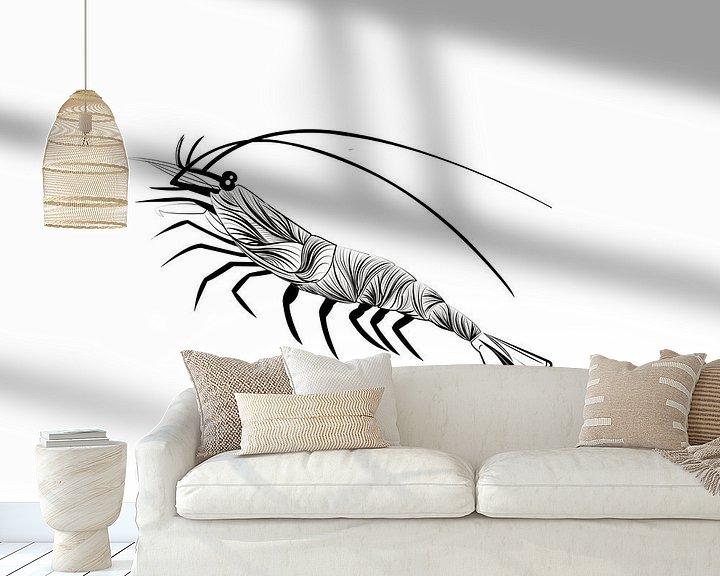 Beispiel fototapete: Poster Garnelen - Meerestiere von Studio Tosca