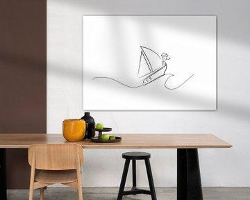 Poster Segelboot - Terschelling von Studio Tosca