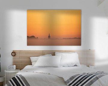 Hasselt (NL) vor Sonnenaufgang von Erik Veldkamp