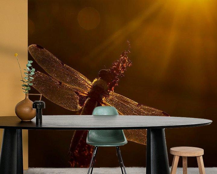 Sfeerimpressie behang: Viervlek in het gouden uur van Erik Veldkamp