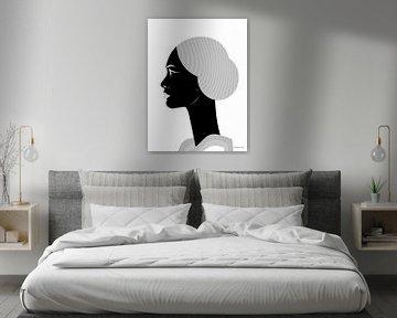 Afrikanische Schönheit von Ton van Hummel (Alias HUVANTO)