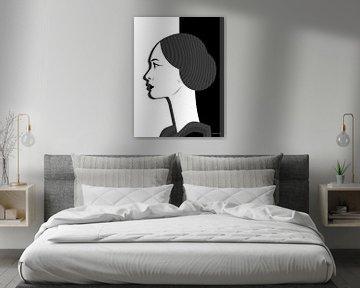 Frau mit Schatten von Ton van Hummel (Alias HUVANTO)