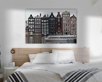 Les maisons du canal d'Amsterdam sur Edwin Fotografeert