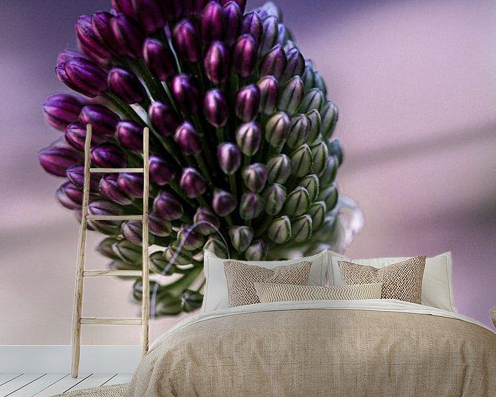 Sfeerimpressie behang: Allium bloem van Lily Ploeg