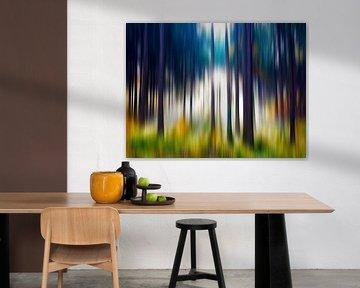 Kleurrijk herfstbos van Gabi Hampe