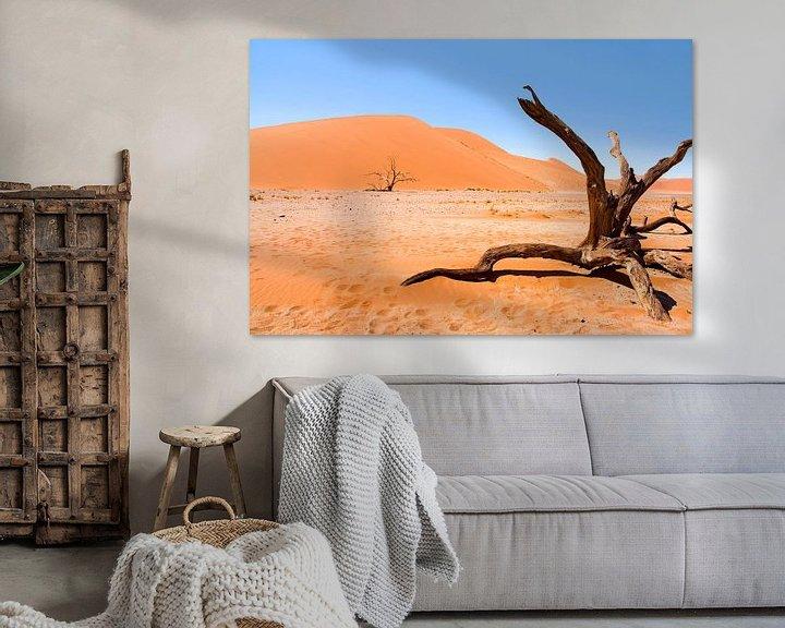 Sfeerimpressie: Landschap Namibië, Sossusvlei, Desert van Liesbeth Govers voor omdewest.com