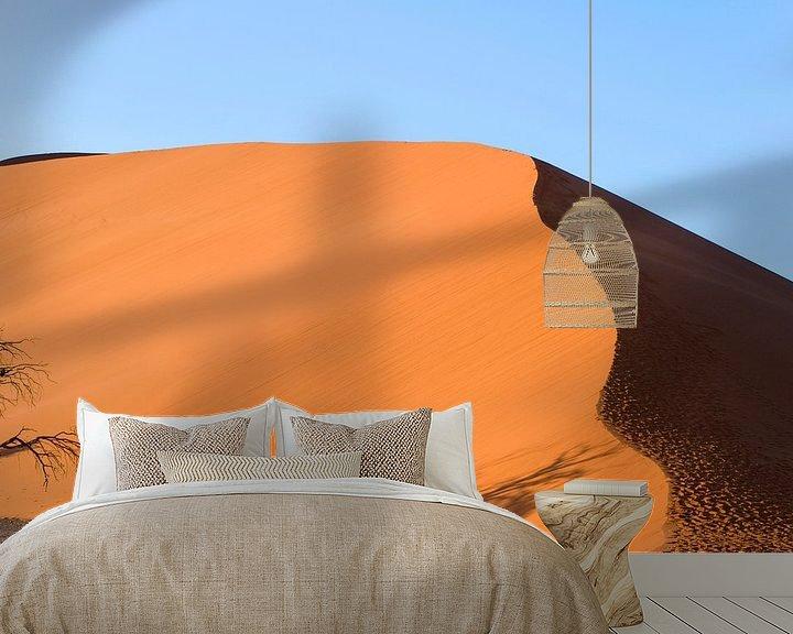Sfeerimpressie behang: Namibie, woestijn, Afrika, Oranje, kleur van Liesbeth Govers voor omdewest.com