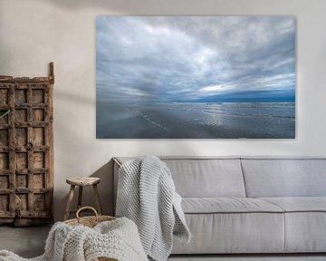 beweging in de wolken op het strand van Karijn | Fine art Natuur en Reis Fotografie