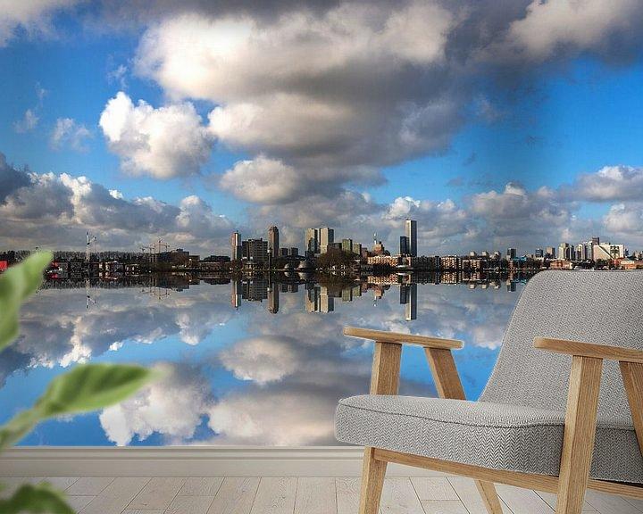 Sfeerimpressie behang: Rotterdam The Other Skyline van Brian Morgan