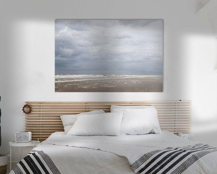 Sfeerimpressie: Wolken en strand op schiermonnikoog van Karijn | Fine art Natuur en Reis Fotografie