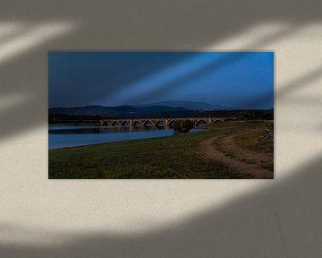 Brücke in der Abenddämmerung von Job Moerland