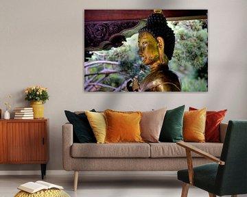 Boeddhabeeld in het Nepalese Himalaya-paviljoen Wiesent bij Regensburg van Roith Fotografie