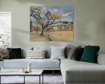 Apfelbaum in Heuvelland von Nop Briex