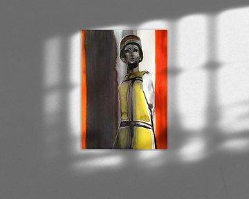 Mondrianisches Kleid von Helia Tayebi Art
