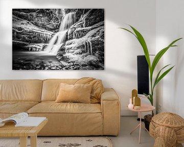 Schwarzweiß Wasserfall von MindScape Photography