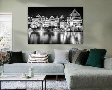 Tübingen bei Nacht an der Neckarbrücke von MindScape Photography