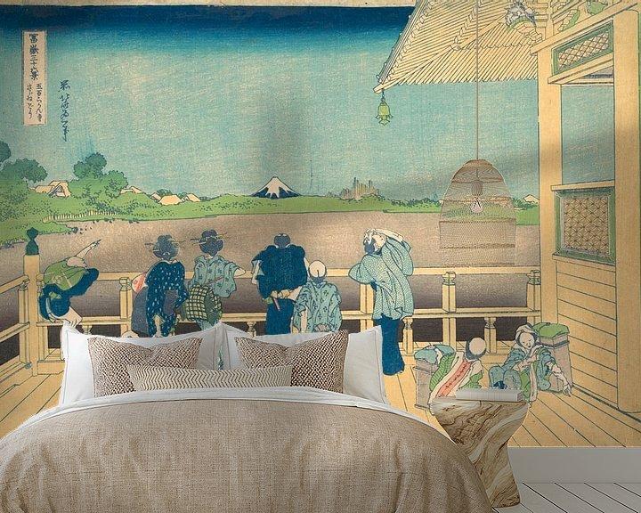 Beispiel fototapete: Sazai-Saal im Tempel der fünfhundert Arhats, Katsushika Hokusai