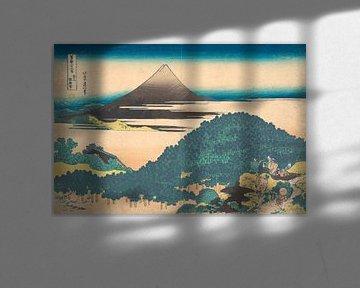 Polsterkiefer in Aoyama, Katsushika Hokusai
