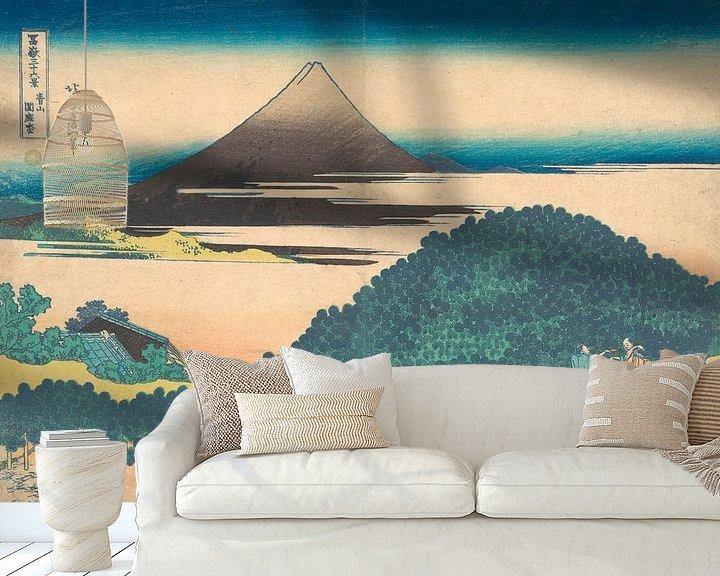 Beispiel fototapete: Polsterkiefer in Aoyama, Katsushika Hokusai
