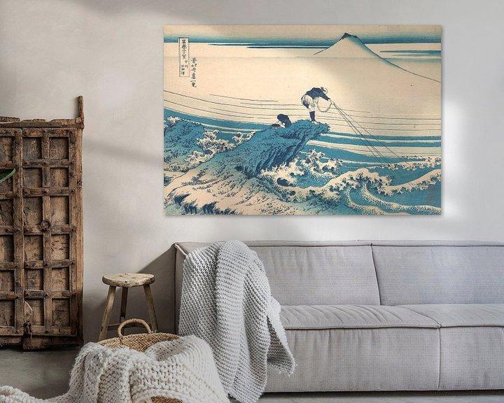 Beispiel: Kajikazawa in der Provinz Kai, Katsushika Hokusai