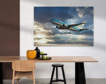 Die KLM PH BGT, Boeing 737-700, genannt Hen Harrier von Gert Hilbink
