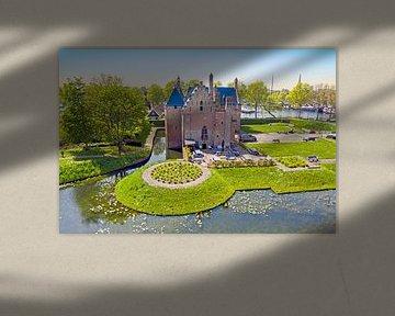 Luftaufnahme des Schlosses Radboud in Medemblik von Nisangha Masselink