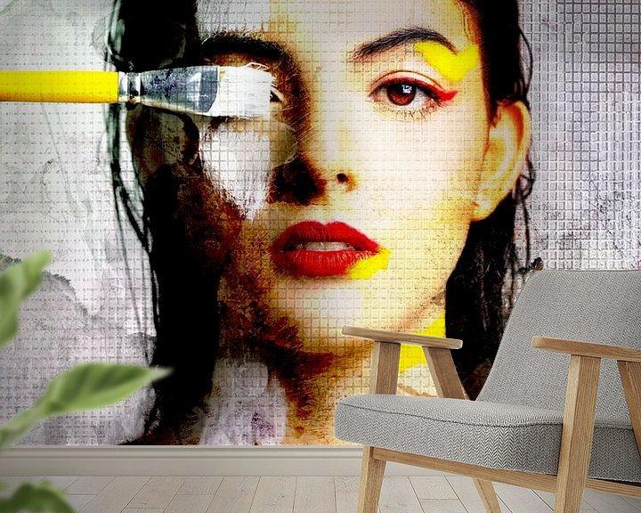 Sfeerimpressie behang: Paint A Rumour van Marja van den Hurk