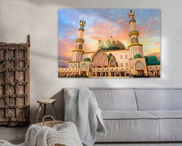 Habbul Wathan Moskee op Lombok in Indonesie van Nisangha Masselink