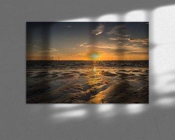 Reflektierender Sonnenuntergang von Marianne van der Westen