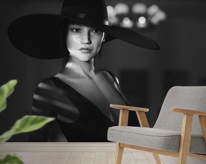 Beispiel fototapete: Movie Noir-Porträt von Arjen Roos