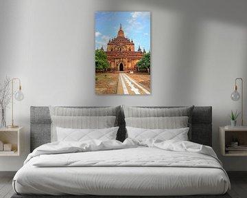 Der Sulamani-Tempel im Dorf Minnanthu (südwestlich von Bagan) in Myanmar. von Nisangha Masselink