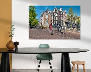 Stadtbild von Amsterdam an der Reguliersgracht von Nisangha Masselink