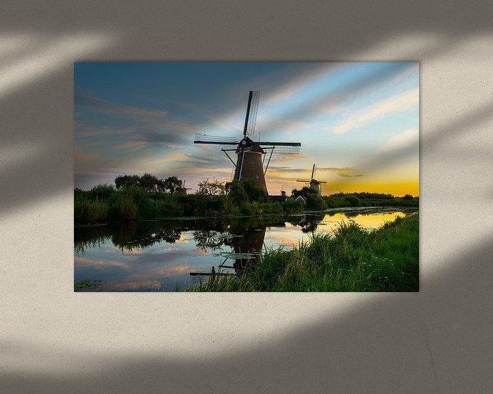 Sfeerimpressie: De Molens van Kinderdijk, Nederland van Gert Hilbink