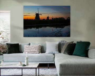 Die Windmühlen von Kinderdijk, Niederlande von Gert Hilbink