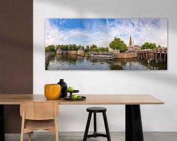 Panoramafoto Breda - Haven -Spanjaardsgat - Grote Kerk van I Love Breda