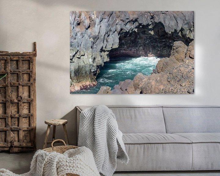 Sfeerimpressie: Rotskust Los Hervideros in het zuidwesten van Lanzarote van Reiner Conrad