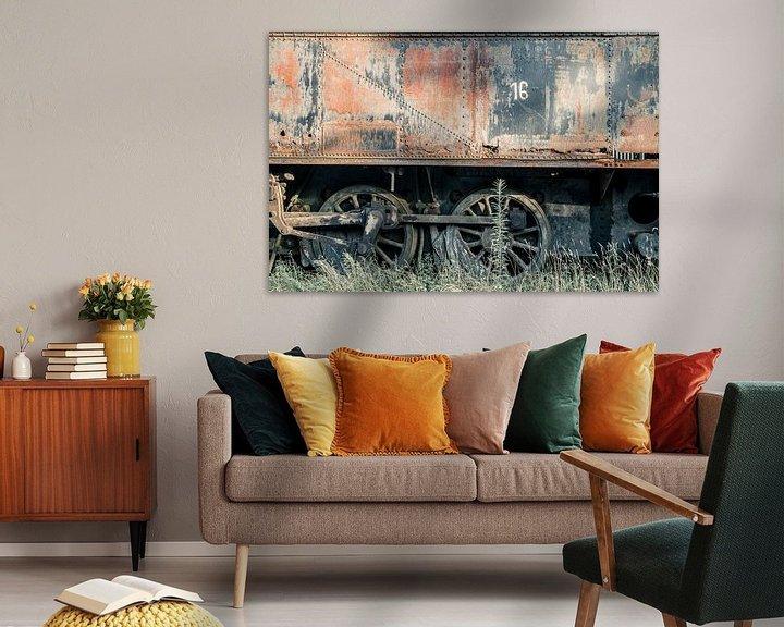 Beispiel: Verlassener Zugwaggon von Art By Dominic