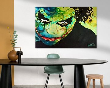 De Joker Face van Kathleen Artist Fine Art