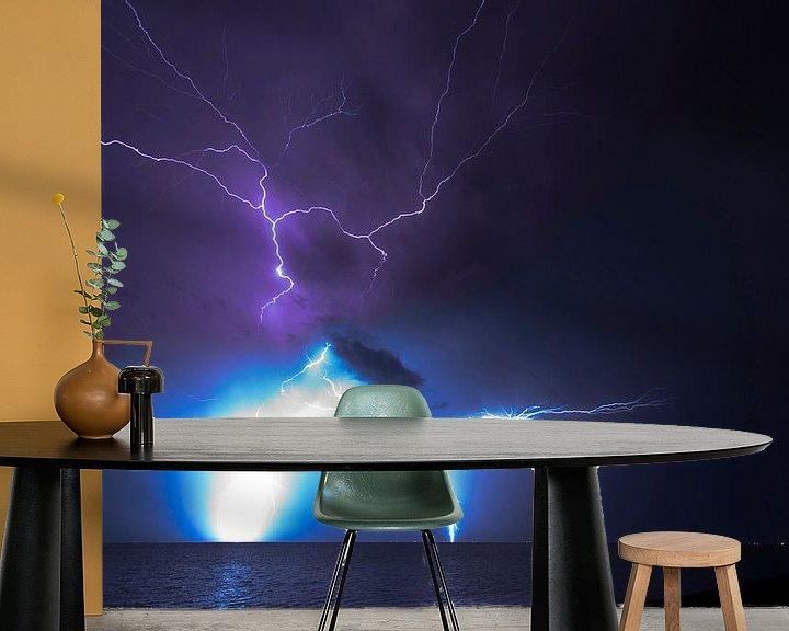 Sfeerimpressie behang: Onweer boven t wad (1) van schylge foto