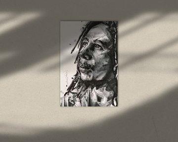 Bob Marley-Gemälde von Jos Hoppenbrouwers