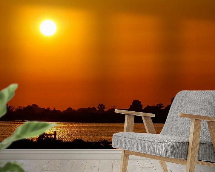 Beispiel fototapete: Liebe und Sonnenuntergang von Anjo ten Kate