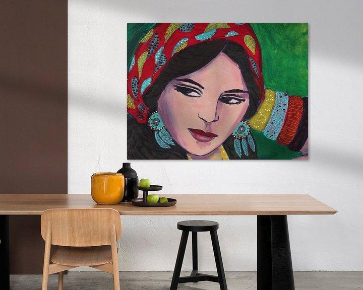 Beispiel: Zigeunermädchen von Lucienne van Leijen