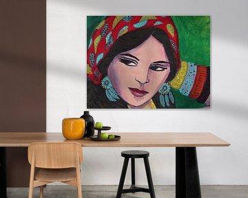 Zigeunermädchen von Lucienne van Leijen