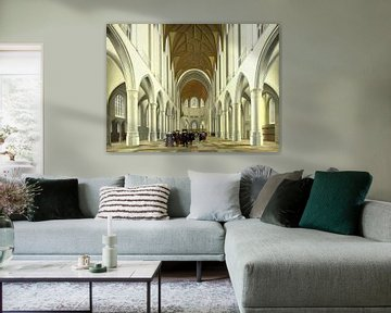 Haarlem, Inneres der Kirche Sint Bavo, Pieter Jansz. Saenredam - 1631 von Atelier Liesjes