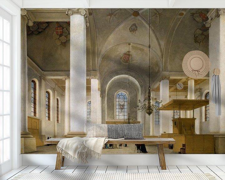 Beispiel fototapete: Haarlem, Inneres der neuen Kirche, Pieter Jansz. Saenredam - 1652 von Atelier Liesjes